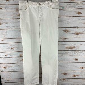 NYDJ  jeans size 12 white 5 pocket style denim